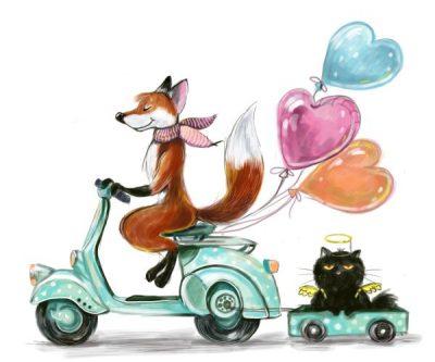 Fox and cat - Sofia Belenko
